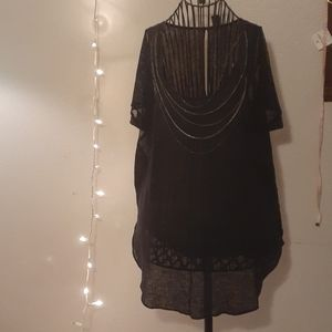 Linen/cotton free people over sized top